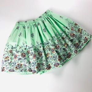 Gap Kids boho print elastic waist skirt